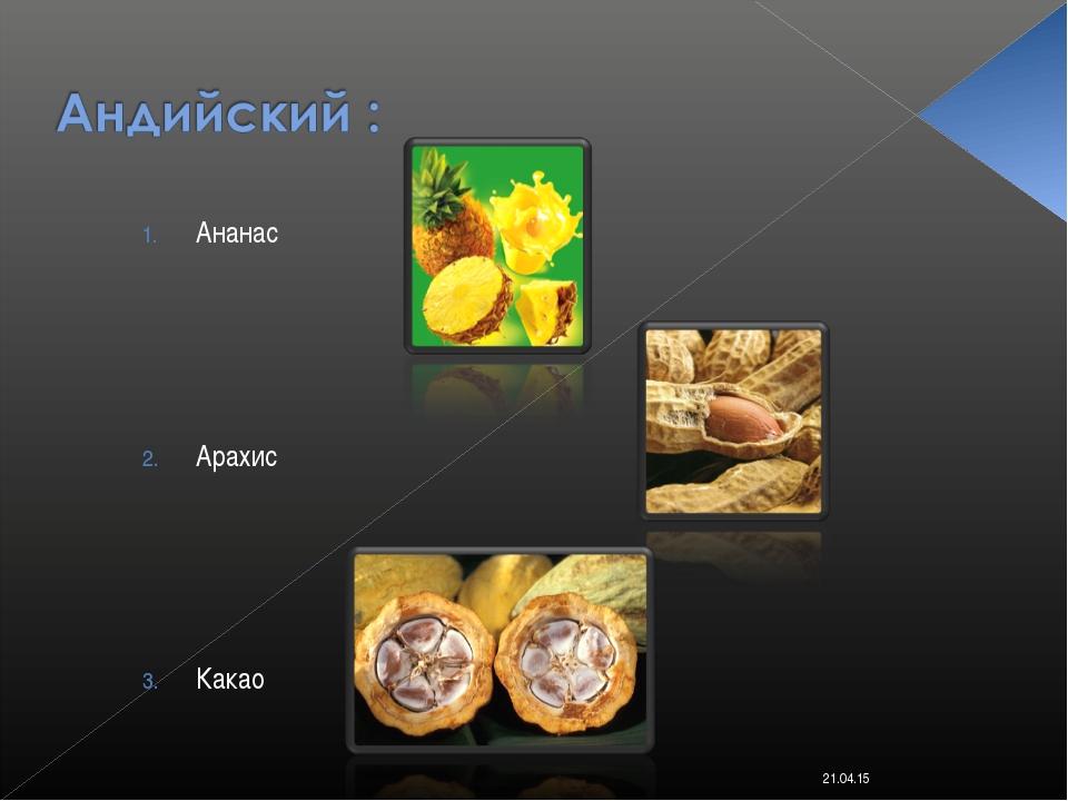 Ананас Арахис Какао * Костюк Алёна 11-Б класс