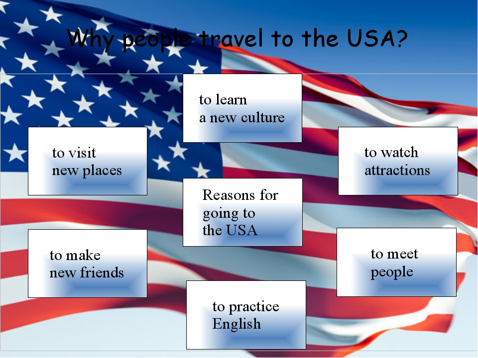 Why people travel to the USA?
