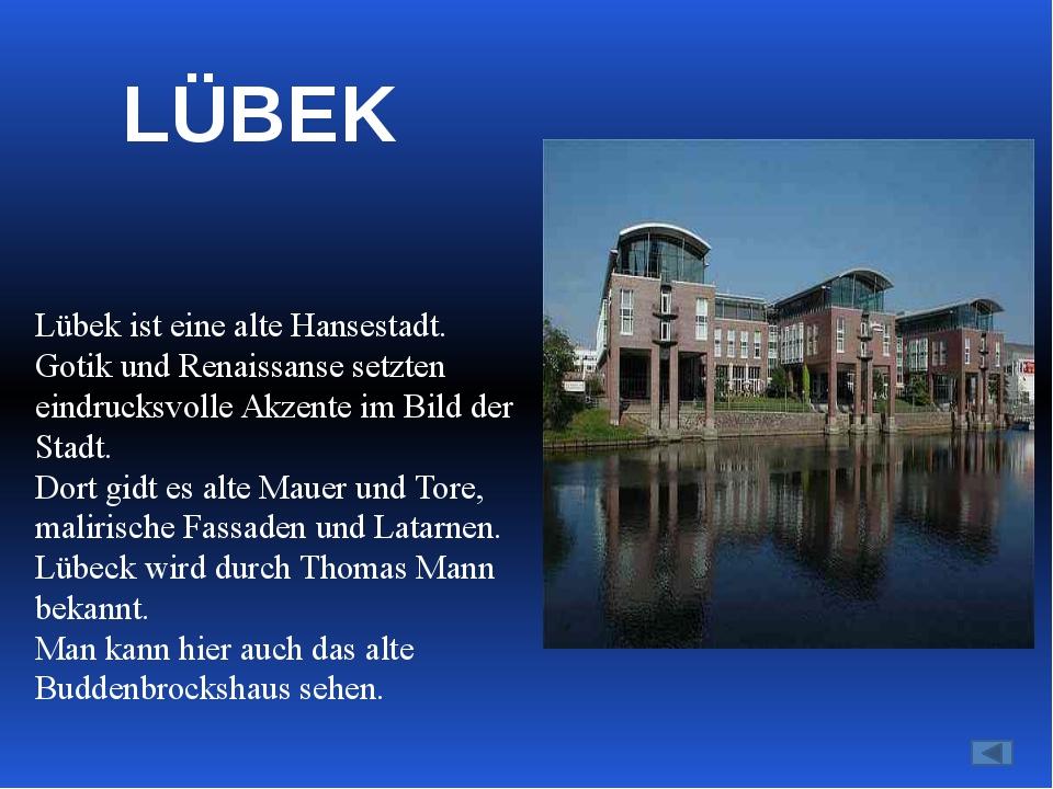 Leipzig (481000 Einwohner) ist die berühmte Messeestadt. Von Alters her ist...