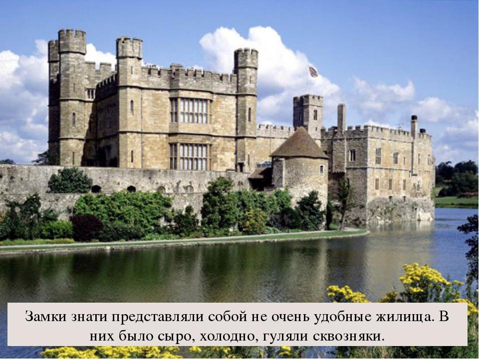 Замки знати представляли собой не очень удобные жилища. В них было сыро, холо...