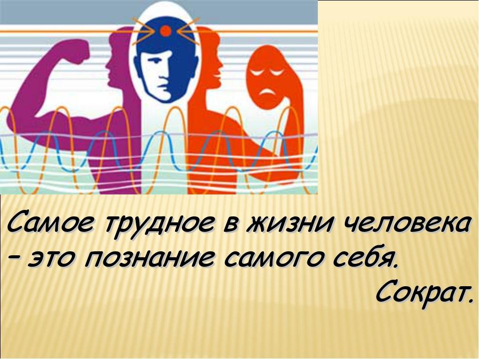 Самое трудное в жизни человека – это познание самого себя. Сократ.