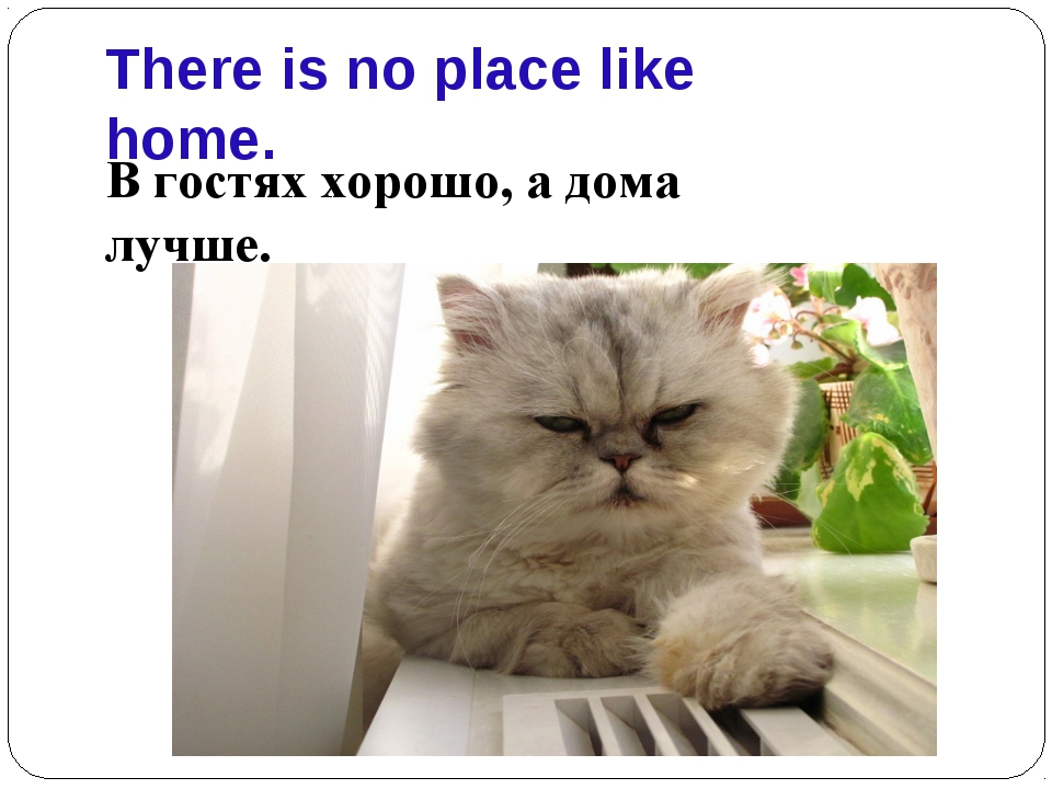 There is no place like home. В гостях хорошо, а дома лучше.