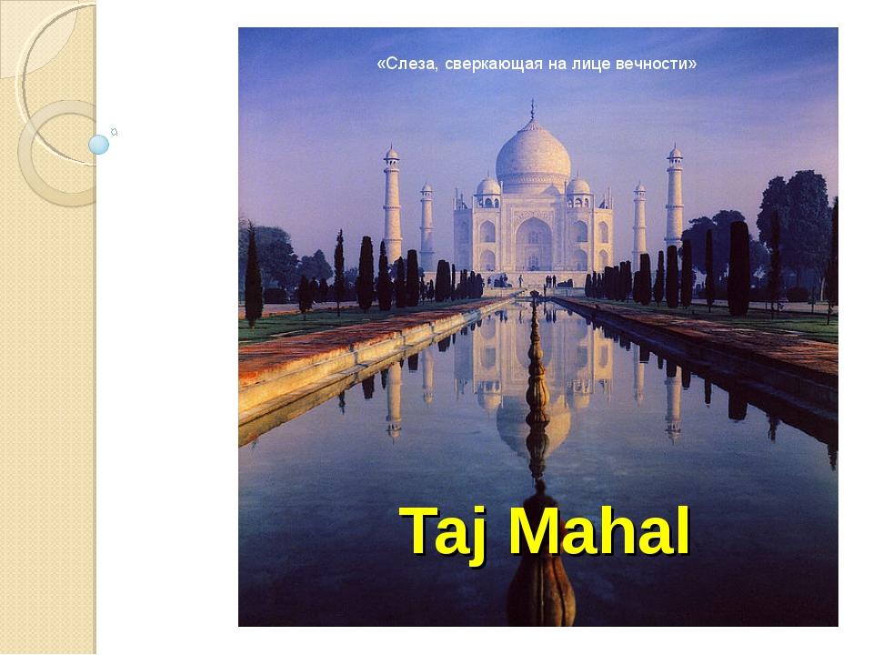 Taj Mahal «Слеза, сверкающая на лице вечности»
