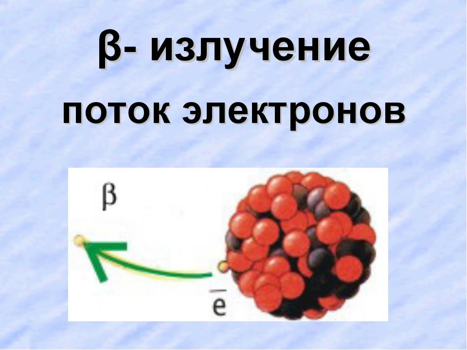 β- излучение поток электронов