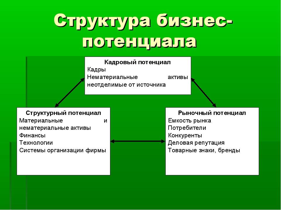 Структура бизнес-потенциала
