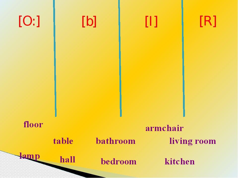 lamp kitchen bathroom floor table living room hall bedroom armchair [O:] [b]...