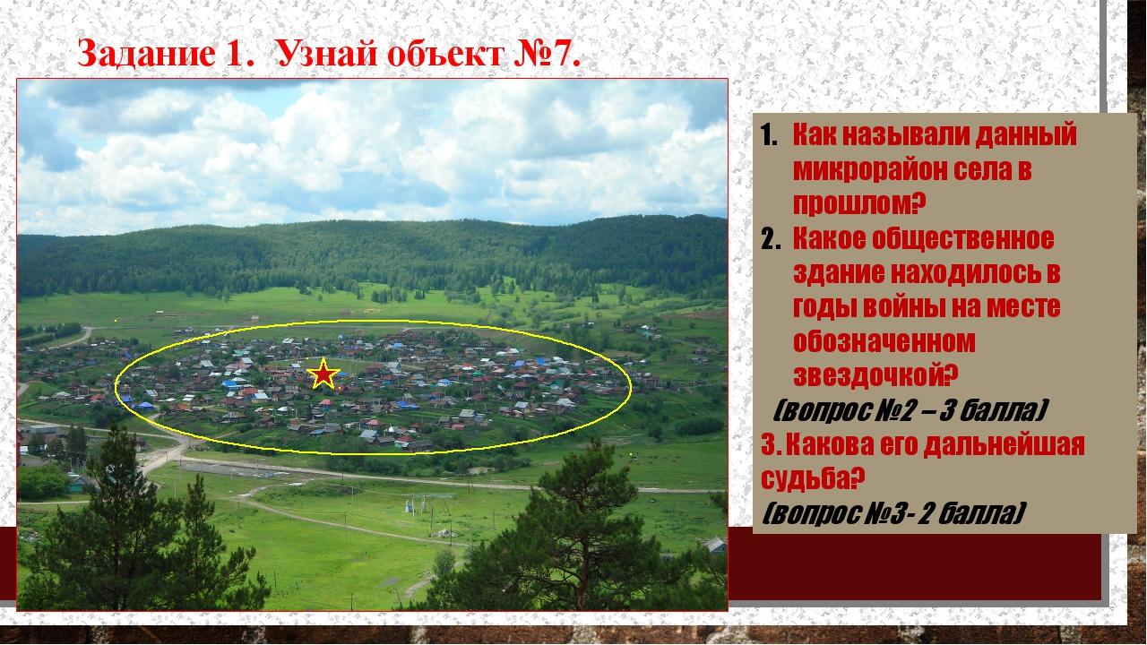 Как называли данный микрорайон села в прошлом? Какое общественное здание нах...