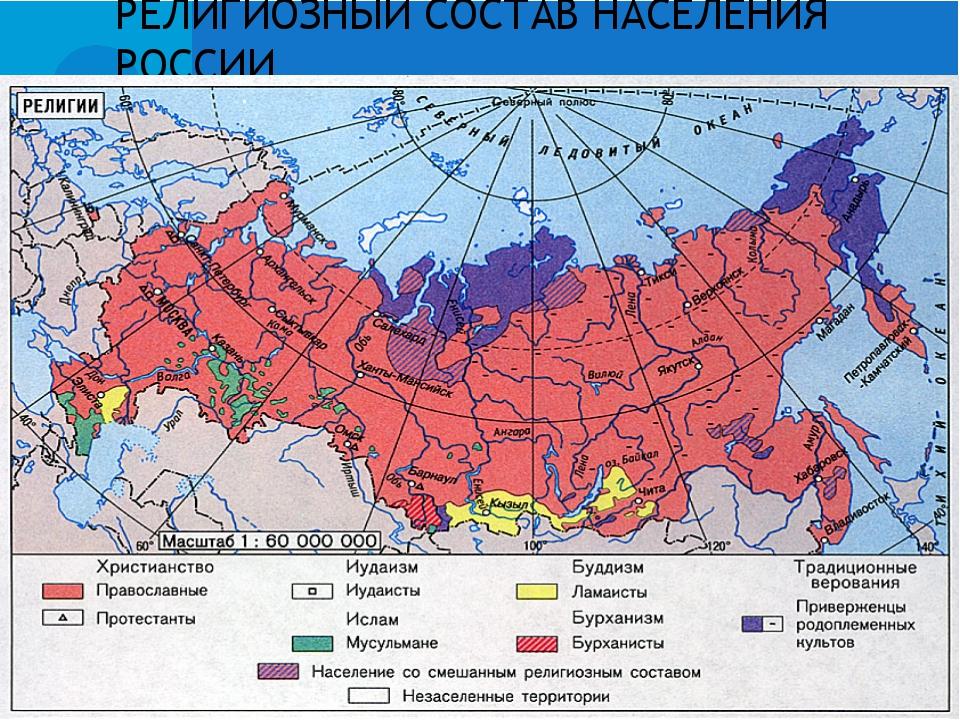 РЕЛИГИОЗНЫЙ СОСТАВ НАСЕЛЕНИЯ РОССИИ