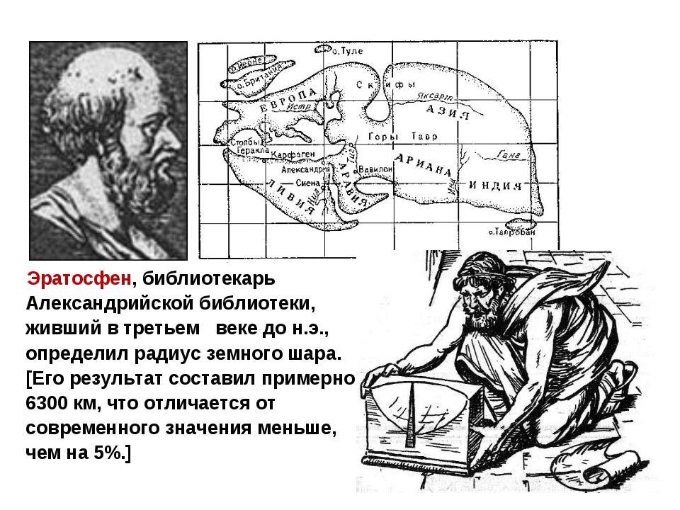 Эратосфен, библиотекарь Александрийской библиотеки, живший в третьем веке до...