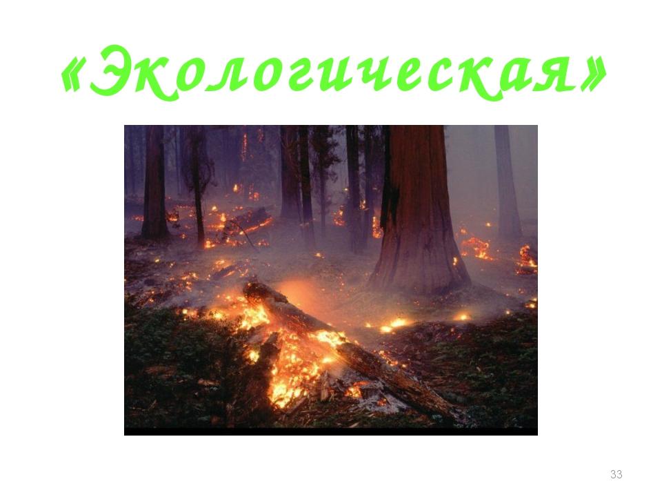 «Экологическая» *