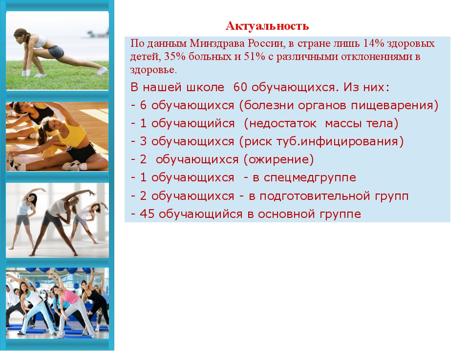 Актуальность По данным Минздрава России, в стране лишь 14% здоровых детей, 3...