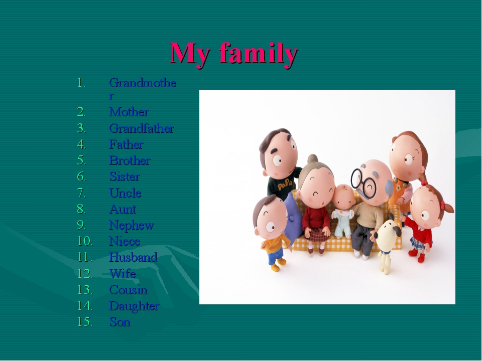 My family Grandmother Mother Grandfather Father Brother Sister Uncle Aunt Nep...