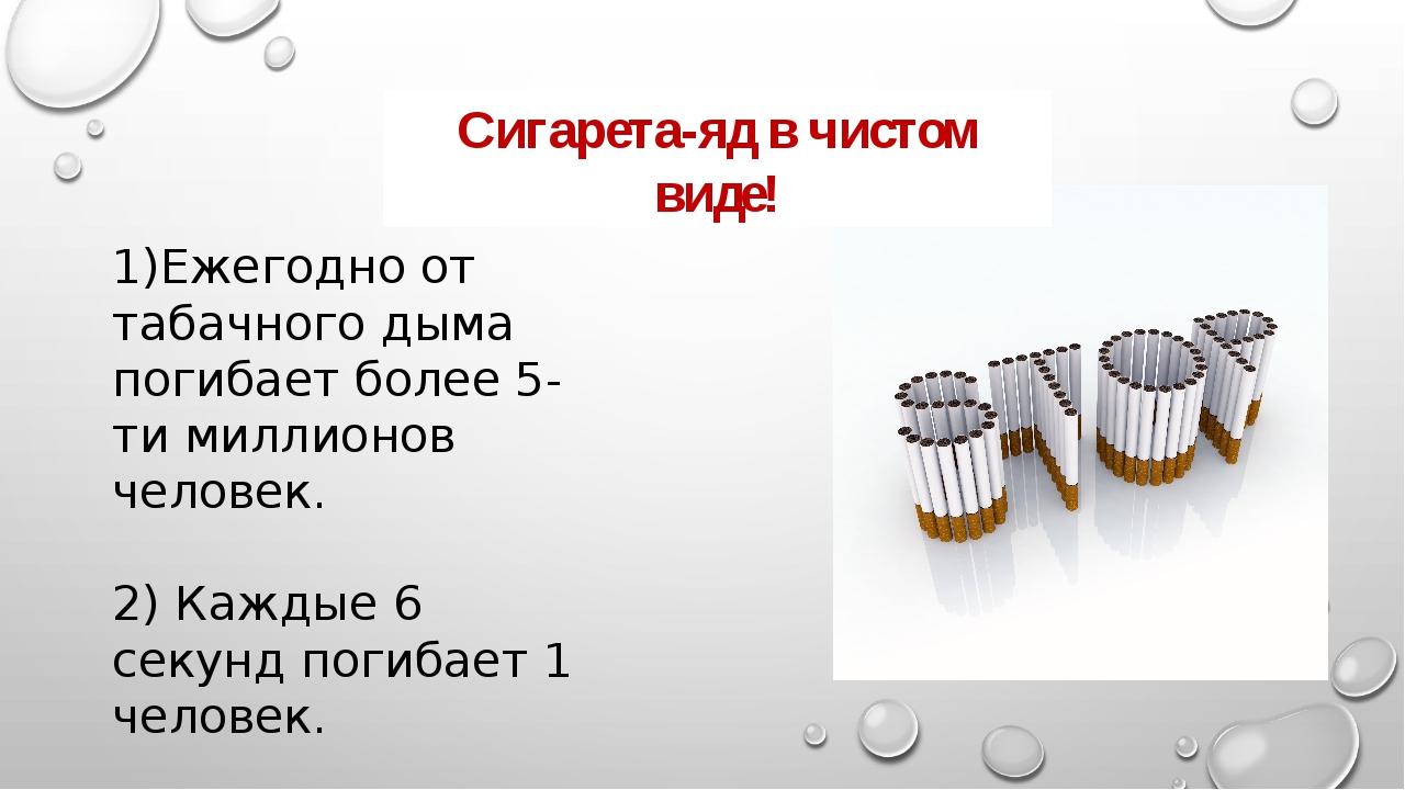 1)Ежегодно от табачного дыма погибает более 5- ти миллионов человек. 2) Кажды...