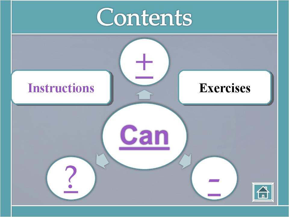 Instructions Exercises