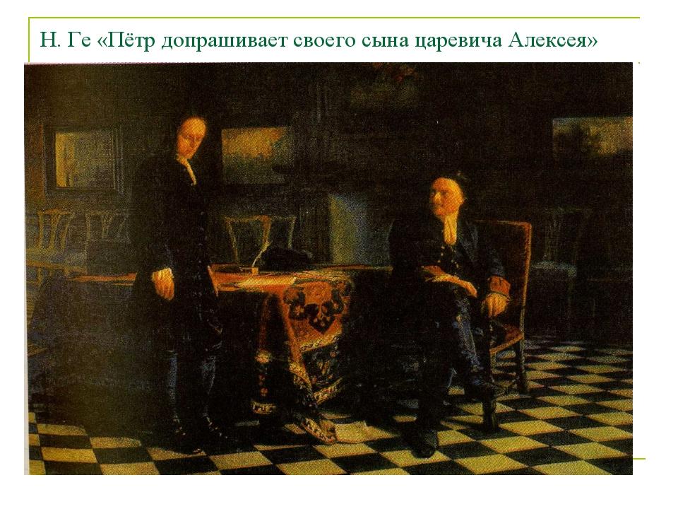 Н. Ге «Пётр допрашивает своего сына царевича Алексея»