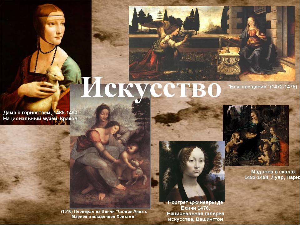 """""""Благовещение"""" (1472-1475) (1510) Леонардо да Винчи """"Святая Анна с Марией и м..."""