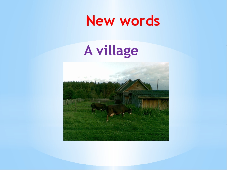 New words A village