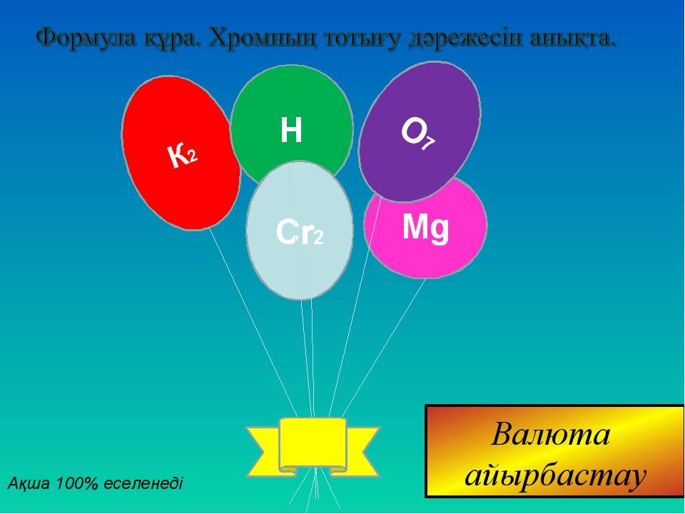 К2 H Mg Сr2 О7 Ақша 100% еселенеді