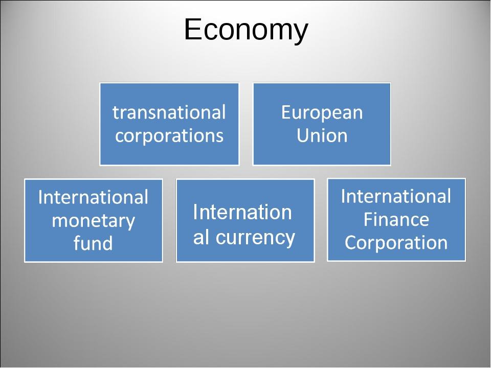 Economy International currency
