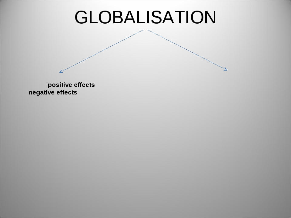 GLOBALISATION positive effects negative effects