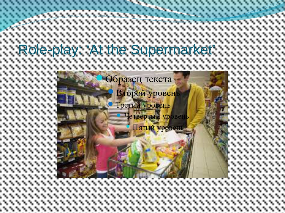 Role-play: 'At the Supermarket'