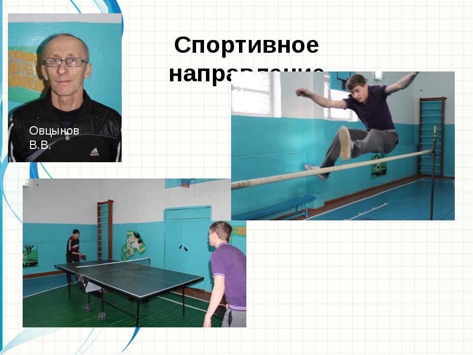 Спортивное направление Овцынов В.В.
