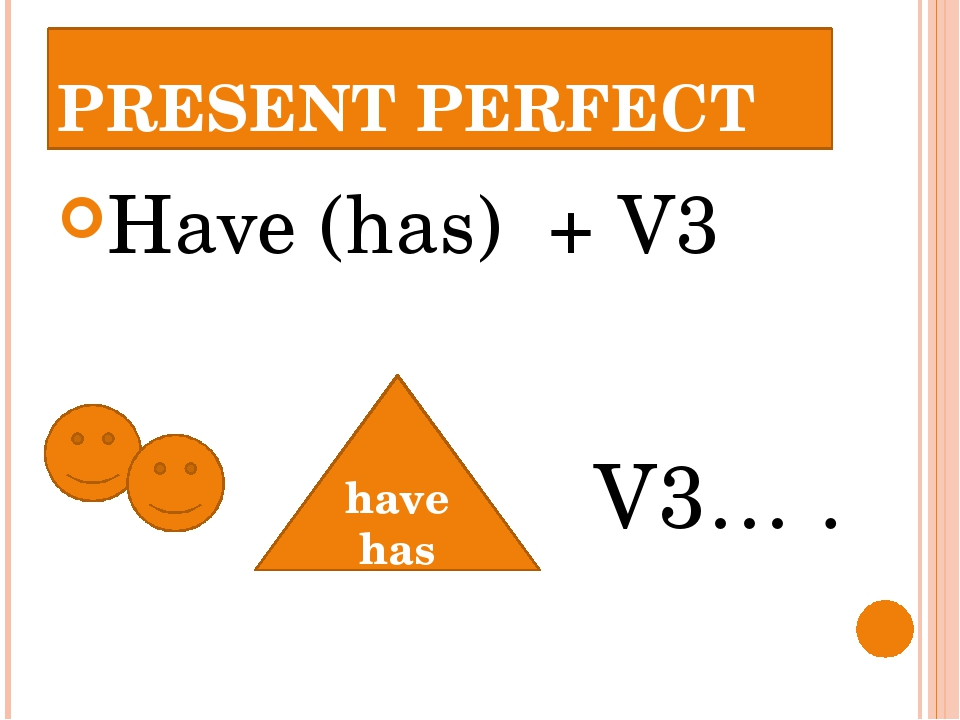 PRESENT PERFECT Have (has) + V3 have has V3… .