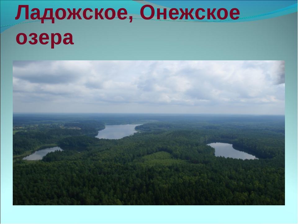 Ладожское, Онежское озера