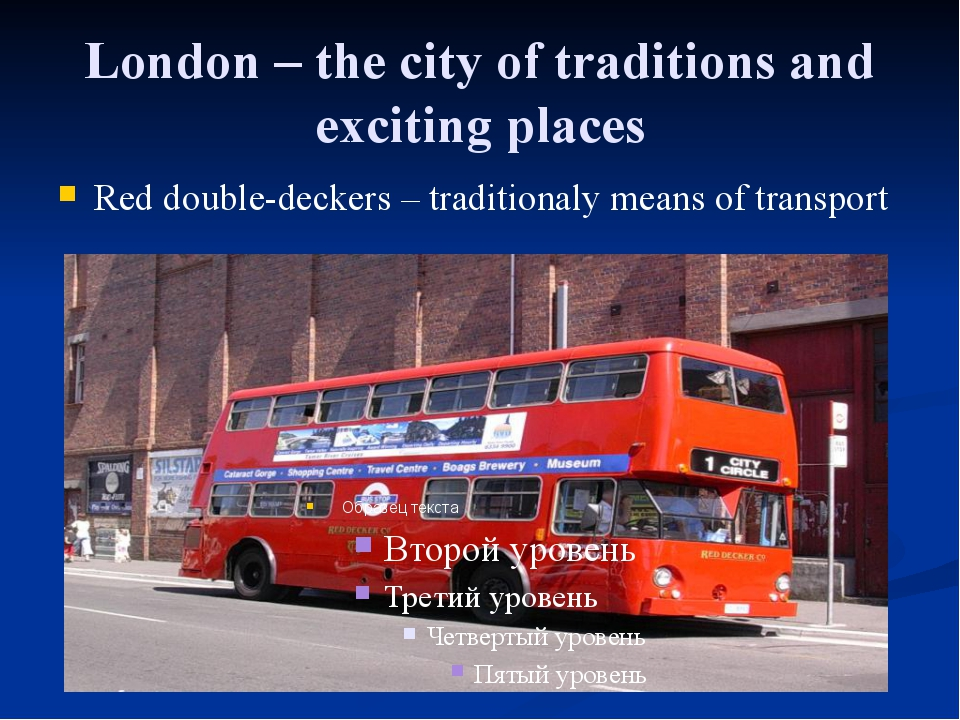 London – the city of traditions and exciting places Red double-deckers – trad...