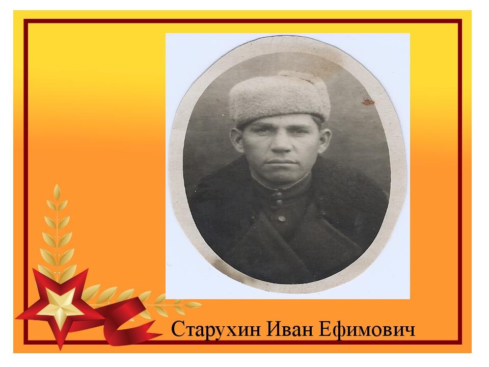 Старухин Иван Ефимович