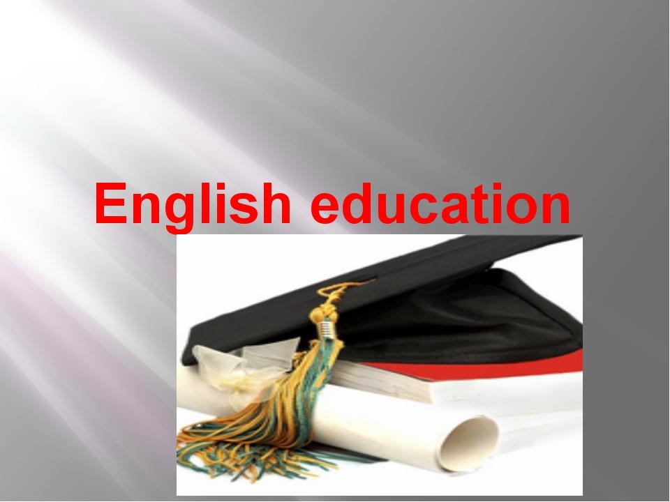 English education