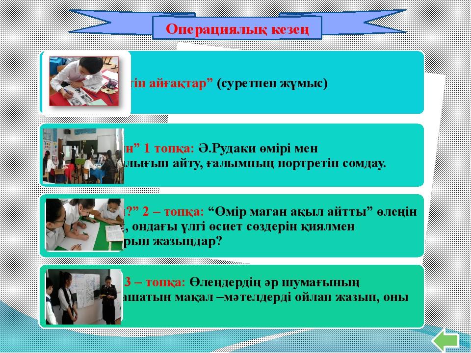 Постер Операциялық кезең
