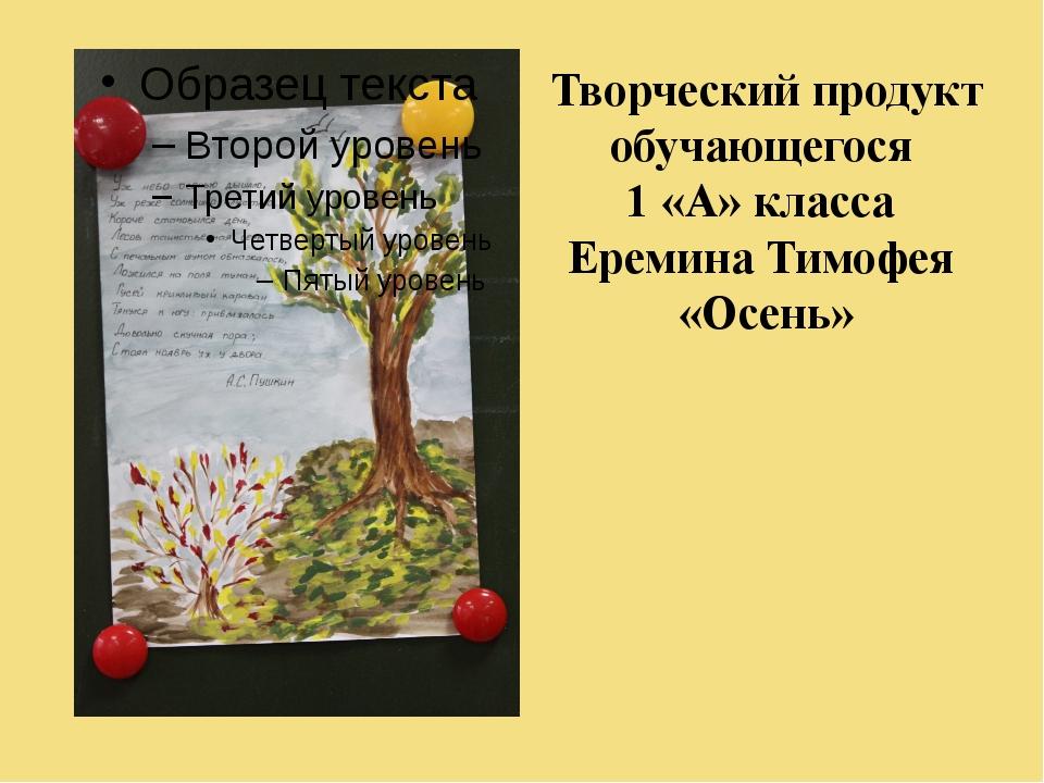 Творческий продукт обучающегося 1 «А» класса Еремина Тимофея «Осень»