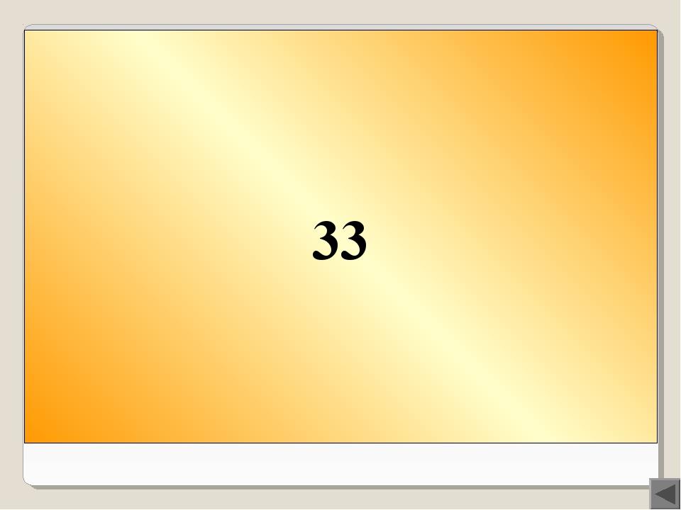 Вопрос 100 Сколько букв в русском алфавите? 33
