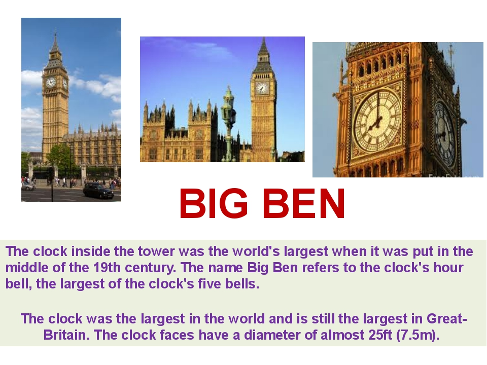 The clock inside the tower was the world's largest when it was put in the mid...