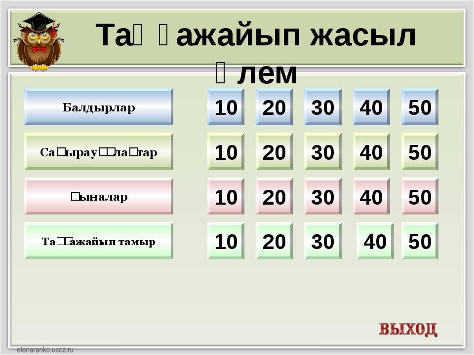 10 20 30 40 50 10 20 30 40 50 10 20 30 40 50 10 20 30 40 50 Балдырлар Таңғажа...