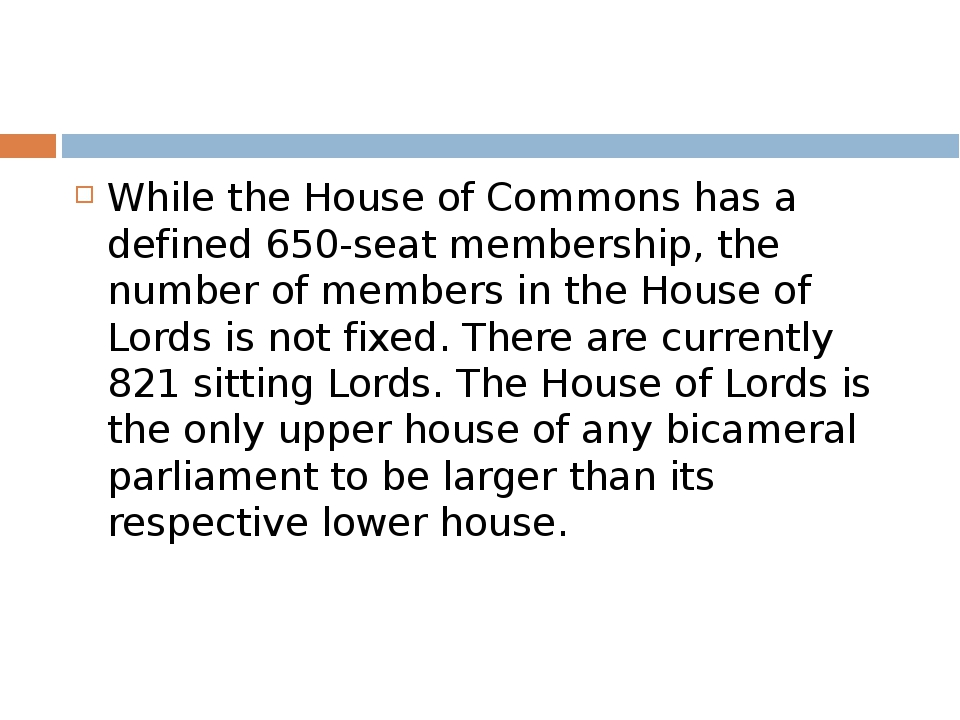While the House of Commons has a defined 650-seat membership, the number of...
