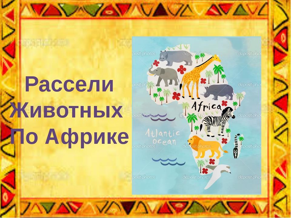 Рассели Животных По Африке