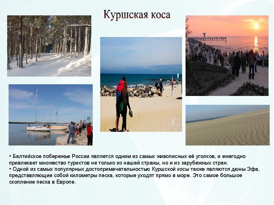 Балтийское побережье России является одним из самых живописных её уголков, и...