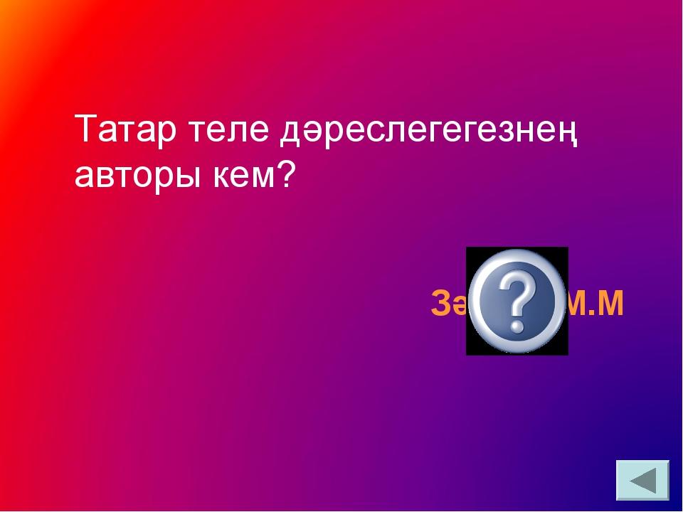 Татар теле дәреслегегезнең авторы кем? Зәкиев М.М