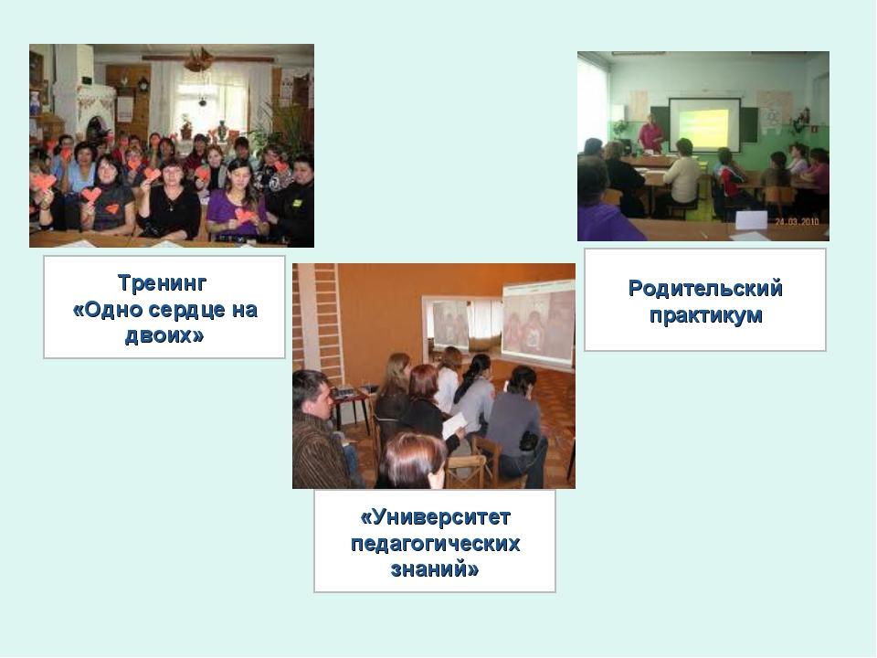 Тренинг «Одно сердце на двоих» «Университет педагогических знаний» Родительск...
