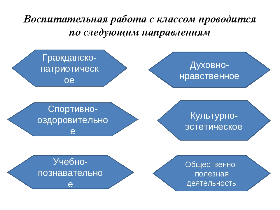 Воспитательная работа с классом проводится по следующим направлениям Гражданс...