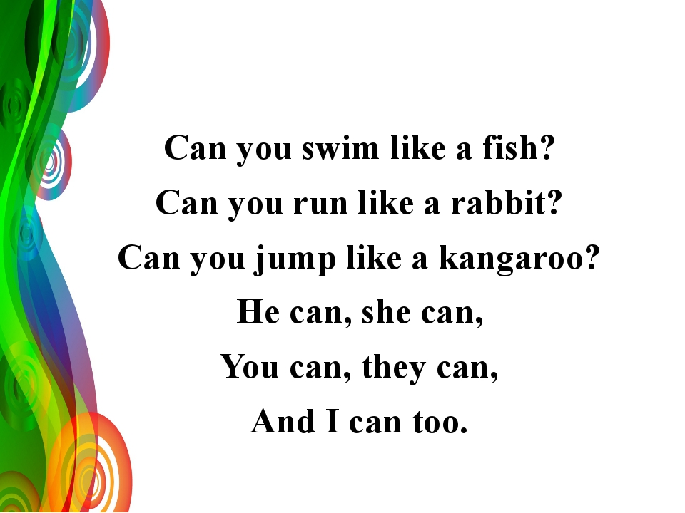 Can you swim like a fish? Can you run like a rabbit? Can you jump like a kan...
