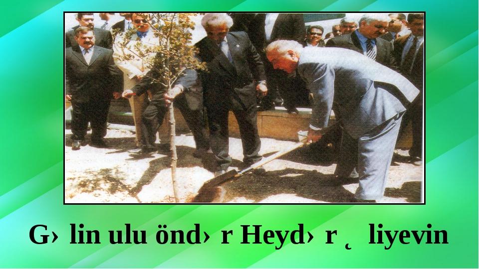 Gəlin ulu öndər Heydər Əliyevin