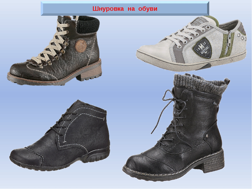 Шнуровка на обуви