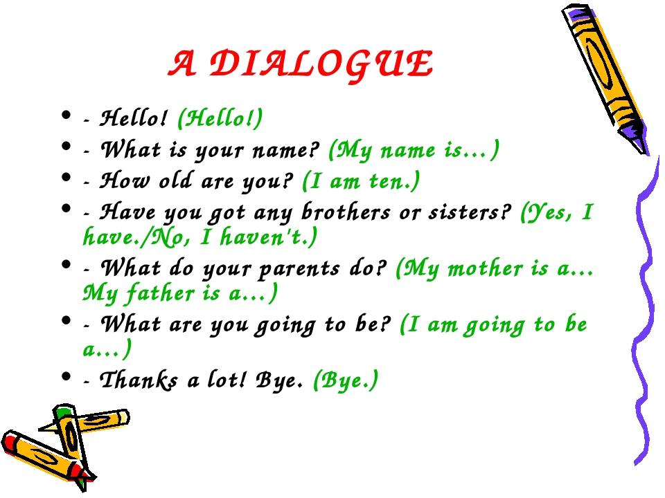 Знакомства английскому по для диалоги