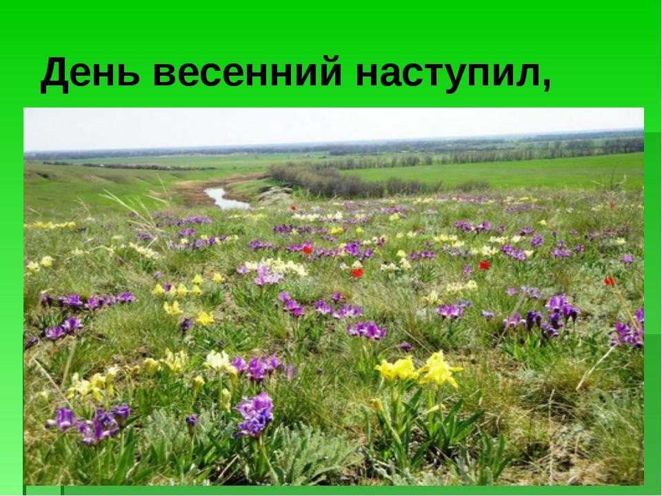 День весенний наступил,