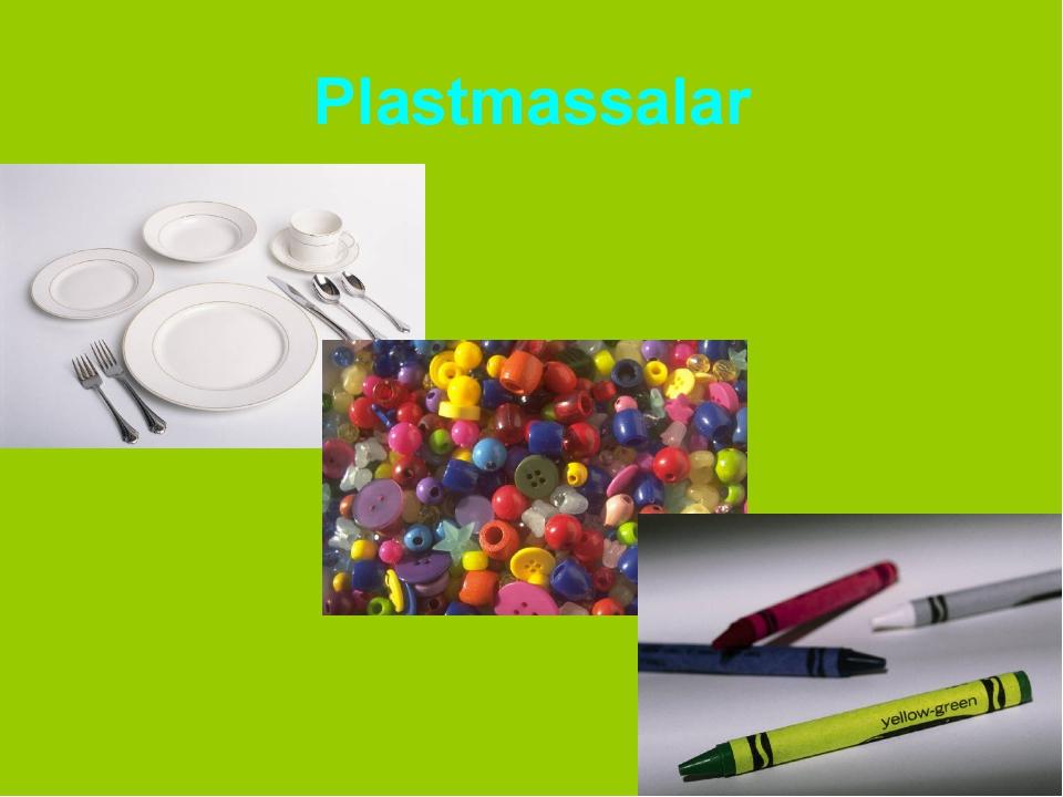 Plastmassalar