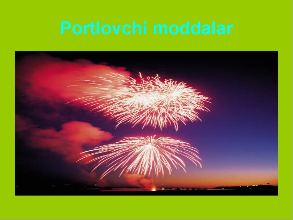 Portlovchi moddalar