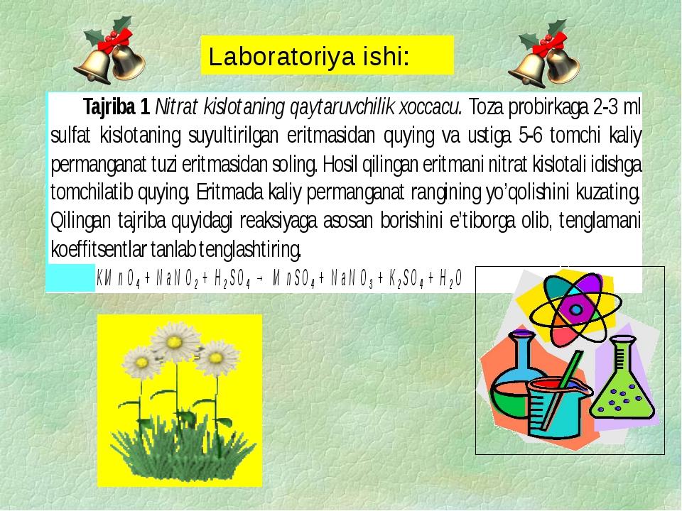 Laboratoriya ishi: